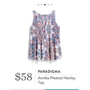 Paradigma Annika Henley top stitch fix